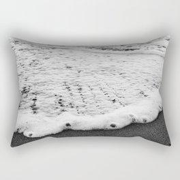 Rushing in - black white Rectangular Pillow