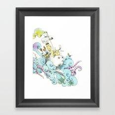 mon petit dejèune Framed Art Print