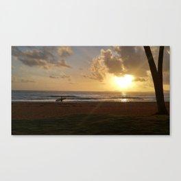 Surfers sunrise Canvas Print
