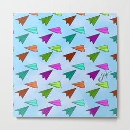 Paper Fliers Metal Print