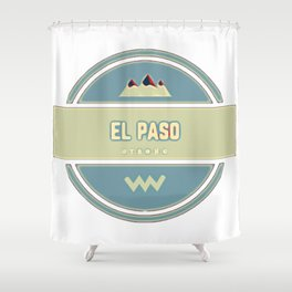 Blue el paso strong support logo Shower Curtain