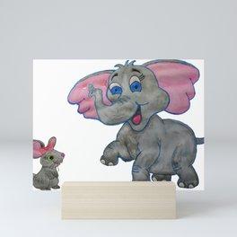 The Elephant and the Mouse Mini Art Print