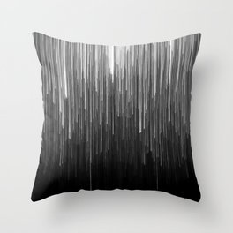 The Lights (Black and White) Throw Pillow