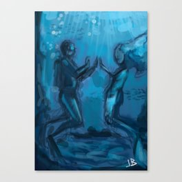 Love in Blue Canvas Print