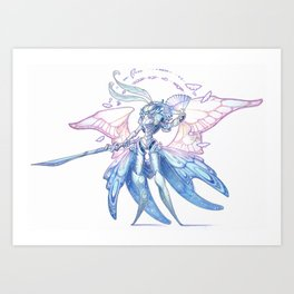 moth warrior Art Print