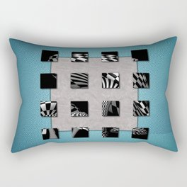 SQUARE AMBIENCE - Blue Sports Rectangular Pillow