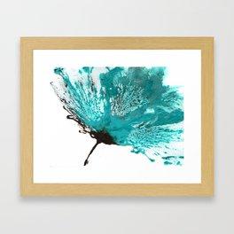 blue ombre Framed Art Print