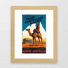 Across Australia Framed Art Print