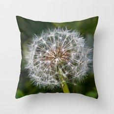 Dandilion Clock Throw Pillow