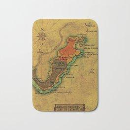 Map Mermaid Cabo de Gata Bath Mat