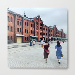 Yohohama: Red Brick Warehouse Metal Print