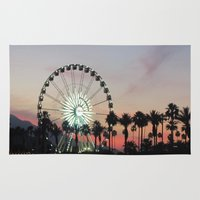 coachella Area & Throw Rugs featuring Coachella by Lauren Haney