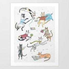 Funnycats Art Print