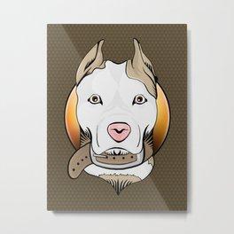 Amercian Staffordshire Terrier Art Print Metal Print