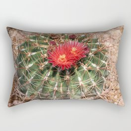 Red Cati Blossoms Rectangular Pillow