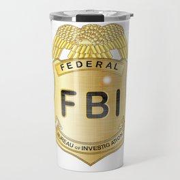 FBI Badge Travel Mug