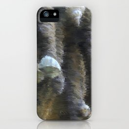 Chalk sketch of shells on stalactites iPhone Case