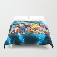 saga Duvet Covers featuring DBZ - Buu Saga by Mr. Stonebanks