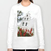 san diego Long Sleeve T-shirts featuring San Diego Mission by Henrik Lehnerer