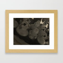 One Eyed Ducks! Framed Art Print