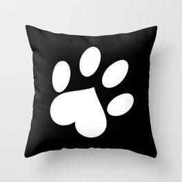 Paw love Throw Pillow