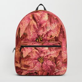 Red Spotted Pointsettia Backpack