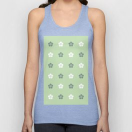 Green Flower Blossoms Unisex Tank Top