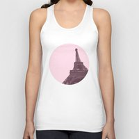 eiffel Tank Tops featuring Eiffel by Michelle Wang