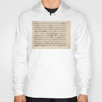 mozart Hoodies featuring Mozart by Le petit Archiviste