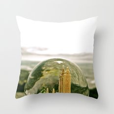 New York by the Sea Throw Pillow