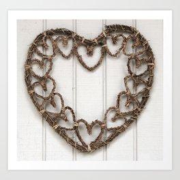 Heart of Twigs Art Print