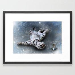 Tiger and Rabbit Framed Art Print