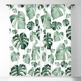 Tropical Monstera Pattern #2 #tropical #decor #art #society6 Blackout Curtain