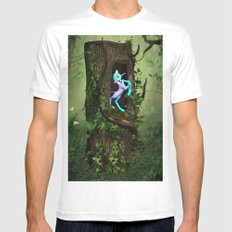 Secred Wood MEDIUM Mens Fitted Tee White