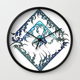 Blue Diamond (1) Wall Clock