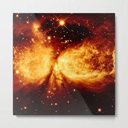 Golden Copper A Star Is Born Metal Print