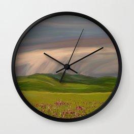 Rain Brings Life Wall Clock