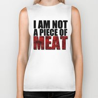 meat Biker Tanks featuring MEAT by Nathan