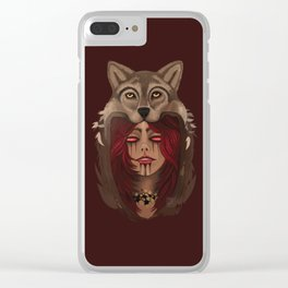 Wolf Woman Clear iPhone Case