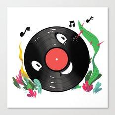 Vinyl Guy Canvas Print