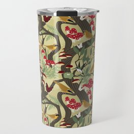 North American Forest Pattern (Natural) Travel Mug