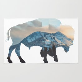Bison Mountain Rug