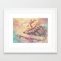 converse Framed Art Prints featuring Converse by Nechifor Ionut
