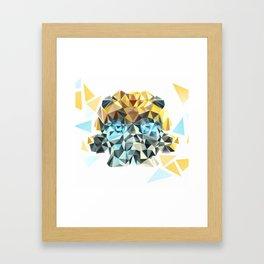 Bumblebee Low Poly Portrait Framed Art Print