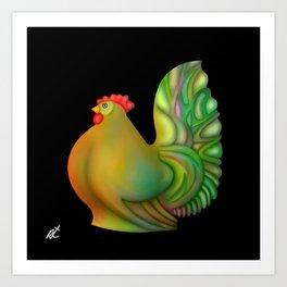 Fat chicken by rafi talby Art Print