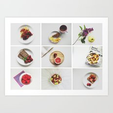 Morning stories - FRUIT set Art Print