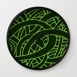 Microcosm in Green Wall Clock