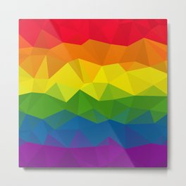 Low poly rainbow Metal Print