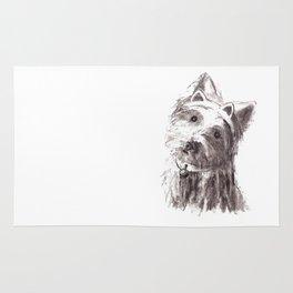 Bon Bon - the cat-like dog Rug