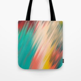 Artsy abstract teal turquoise ivory brushstrokes Tote Bag